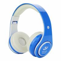 Wholesale Blue Over Ear Wireless Bluetooth Stereo Headphones FM Radio With Mic from china suppliers