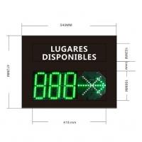 Buy cheap Vehicle parking LED display RS485 RS232 w26 from wholesalers