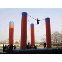 Wholesale Inflatable Amusement Park With Bungee Trampoline For Parks / Backyard from china suppliers
