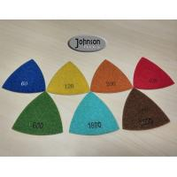 Wholesale Green Triangle Corner Diamond Floor Polishing Pads , Electroplated Metal Bond Pads from china suppliers