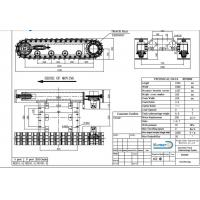 Quality customized undercarriage/2 Ton Steel Track Undercarriage/Steel Crawler Undercariage/Crawler Chassis for sale