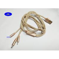 Buy cheap PVC + Braided 3 IN 1 USB AM To Micro , Lighting Type C USB Cable With Spring from wholesalers