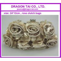 Wholesale Rose design clutch bags,  evening bags, ladies cluth bag, measure 24*12cm from china suppliers