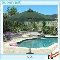 Wholesale Sun Protection Double Pocket Wood Parasol Straight Patio Market Umbrella from china suppliers