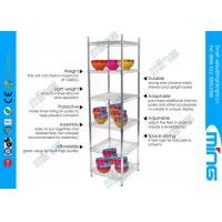 Wholesale Four Tier Silver Mobile Wire Shelving Unit Chrome Plated For Kitchen from china suppliers