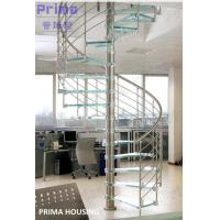 Wholesale Glass Spiral Staircase / Stainless Steel Railing Spiral Stair from china suppliers