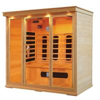 Wholesale Hemlock Far Infrared Sauna Cabin for 1 - 5 person , Carbon / Ceramic fiber from china suppliers