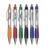 Buy cheap sliver barrel grip plastic ball point pen, sivler body plastic ballpoint pen from wholesalers