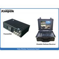 Wholesale Army Microwave Wireless AV Transmitter with Portable Receiver 10W COFDM Wireless Video Link from china suppliers