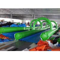 Wholesale PVC Tarpaulin Inflatable Slip Slide 300m Long Double Lanes Inflatable Water City from china suppliers