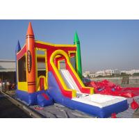 Wholesale Castle Type PVC Tarpaulin Inflatable Jumping Castle With Slide Inflatable Bouncer Castle from china suppliers