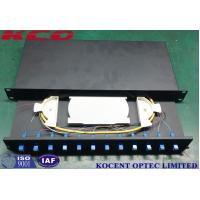 Wholesale FTTx SC ST LC Fiber Optic Terminal Box Fiber Enclosure 19 Inch Drawer Type from china suppliers