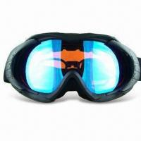 Wholesale Ski Goggles with TPU Soft and Prescription Frame, Double-layer Polycarbonate Lens with Anti-fog from china suppliers