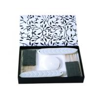 Wholesale Black / White Ceramic Aroma Incense Burner Gift Sets With Ceramic Incense Holder from china suppliers