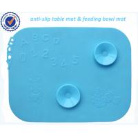 Wholesale Flexible Reusable Silicone Kids Dinner Mat / Silicone Baby Placemat from china suppliers