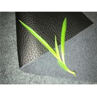 Buy cheap Man made genuine leather with black color 30meters length 54inches width from wholesalers