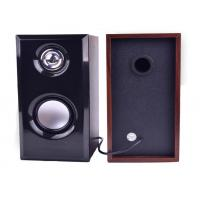 Quality 5V USB 2.0 Small Wooden Computer Speakers , Table PC Stereo Computer Speakers for sale