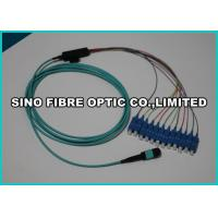 Wholesale LC - MPO Fiber Optic Cable 12 Core Fanout Kits 1M Meter 25Db Return Loss from china suppliers