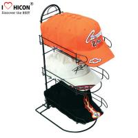 Wholesale Merchandising Baseball Caps Table Top Display Stands 3 - Layer Metal Material from china suppliers