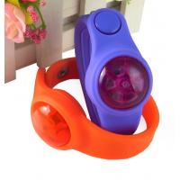 Quality led silicone wrist band with button, flash bracelet; for sale