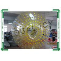 Wholesale Yellow Adult Inflatable Zorb Ball Giant for Outdoor Playing from china suppliers