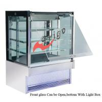 Quality Anti - Fog  Square Cake Display Refrigerator , Food Display Cabinets With LED Lights for sale