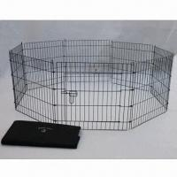 Wholesale Two Doors Welded Metal Wire Dog Cage with Powder, Zinc, Chrome and Epoxy Surface Treatment from china suppliers
