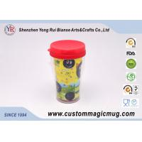 Wholesale Big Eco-Friendly Double Wall Plastic Travel Cups With Lids , 12oz/350ml from china suppliers