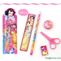 Wholesale Cheap Gift Children Student Cartoon Stationery Set Pencil Set in Blister Card from china suppliers