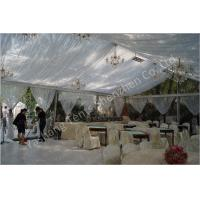 Wholesale Backyard Transparent Outdoor Party Tents , Clear Party Tent Rentals With Lining Decorations from china suppliers