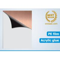 Quality Protective film for stainless steel hairline finish (HL finish) for sale
