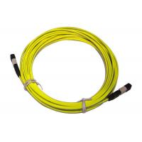Wholesale MPO / MTP 8/12/24 cores UPC/APC/OM3 Yellow/Aqua Fiber Optic Patch Cord from china suppliers