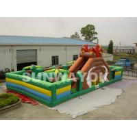 Wholesale Durable 0.55 mm PVC Inflatable Funland Dinosaur Inflatable Play Park For Rental from china suppliers