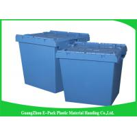 Quality Nesting Logistic Heavy Duty Storage Boxes , Plastic Storage Bins With Hinged Lids for sale