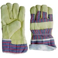 Wholesale L Pile lining with pasted cuff grain leather Winter Work Gloves for Safe and Warm from china suppliers
