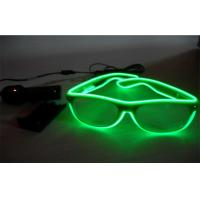 Wholesale Neon Transparent Green Lighting El Wire Sunglasses / LED Light Up Sunglasses from china suppliers