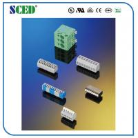 Quality Black PCB Screw Terminal Block Brass Euro Raising Type Series 300V 10A 12-24 AWG for sale