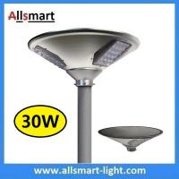 Wholesale New 30W 3000lm UFO Solar Garden Lights All In One Parking Lot Lamp Solar Energy Products With 50W Solar Panel Aluminum from china suppliers