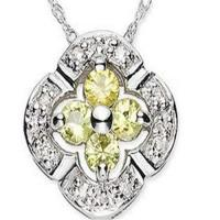 Wholesale Canary Tourmaline & Diamond Pendant from china suppliers