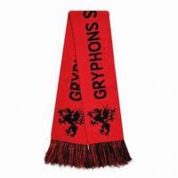 Wholesale Football Woven Fan Knitted Scarf, ODM and OEM Orders are Welcome from china suppliers