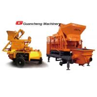 Wholesale Twin Shaft Mobile concrete mixer pump trailer  for construction from china suppliers
