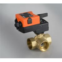 Wholesale 3 Way Mini Spring Return Motorized Brass Ball Valve for Automatic Control from china suppliers
