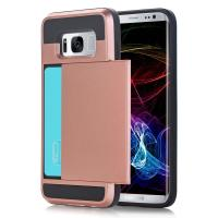 Wholesale Wallet Samsung Cell Phone Cases Rubber Anti - Scratches Hard Card Slot Holder from china suppliers