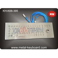Wholesale 70 Keys Ruggedized Keyboard , Stainless Steel Access Kiosk Keyboard with trackball from china suppliers