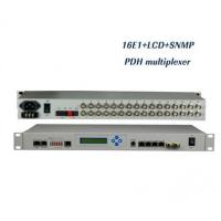 Wholesale 16E1 PDH Optical Multiplexer with LCD display, 1+1 fiber, 4 Ethernet ports, SNMP+Console from china suppliers