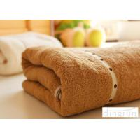 Quality Thickening / Widened Pure Cotton Bath Towels Brown Colors Various Designs for sale