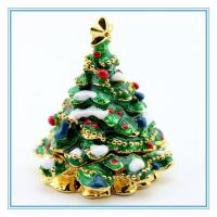 Wholesale Christmas Tree Trinket box for gifts from china suppliers