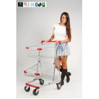 Wholesale Two Layer baskets Grocery Shopping Trolley For Ladies With PVC , PU , TPR Wheel CE GS ROSH from china suppliers
