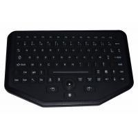 Wholesale 92 key sealed rugged silicone rubber industrial keyboard with trackball for Vehicle use from china suppliers