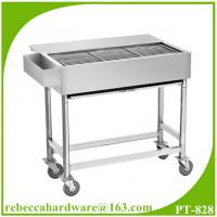Wholesale Commercial bbq grill stainless steel barbecue cart / street food snack mobile bbq cart from china suppliers